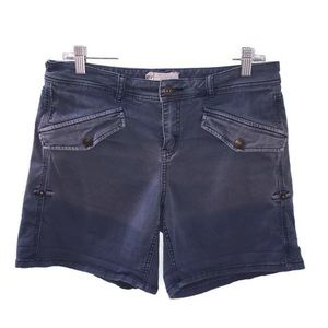 Free People Blue Distressed Shorts Size 8